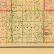 Elkhorn, Iowa 1884 Old Town Map Custom Print - Plymouth Co.