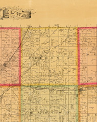 Fredonia, Iowa 1884 Old Town Map Custom Print - Plymouth Co.