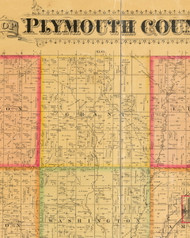 Grant, Iowa 1884 Old Town Map Custom Print - Plymouth Co.