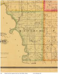 Hancock, Iowa 1884 Old Town Map Custom Print - Plymouth Co.