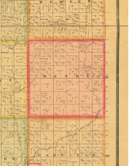Henry, Iowa 1884 Old Town Map Custom Print - Plymouth Co.