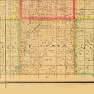 Lincoln, Iowa 1884 Old Town Map Custom Print - Plymouth Co.