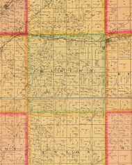Marion, Iowa 1884 Old Town Map Custom Print - Plymouth Co.