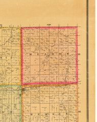 Meadow, Iowa 1884 Old Town Map Custom Print - Plymouth Co.
