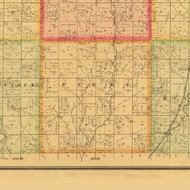 Perry, Iowa 1884 Old Town Map Custom Print - Plymouth Co.