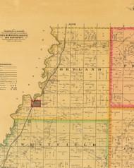 Portland, Iowa 1884 Old Town Map Custom Print - Plymouth Co.