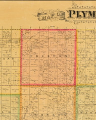 Preston, Iowa 1884 Old Town Map Custom Print - Plymouth Co.