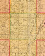 Washington, Iowa 1884 Old Town Map Custom Print - Plymouth Co.
