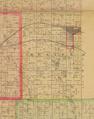 Beaver, Iowa 1885 Old Town Map Custom Print - Polk Co.