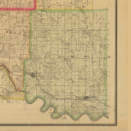 Camp, Iowa 1885 Old Town Map Custom Print - Polk Co.