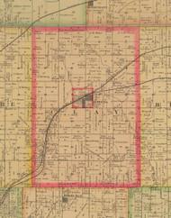 Clay, Iowa 1885 Old Town Map Custom Print - Polk Co.