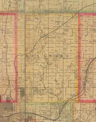 Delaware, Iowa 1885 Old Town Map Custom Print - Polk Co.