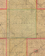 Douglas, Iowa 1885 Old Town Map Custom Print - Polk Co.