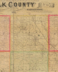 Elkhart, Iowa 1885 Old Town Map Custom Print - Polk Co.