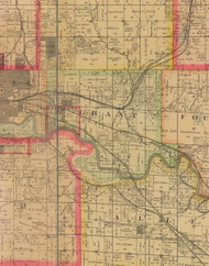 Grant, Iowa 1885 Old Town Map Custom Print - Polk Co.