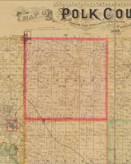 Lincoln, Iowa 1885 Old Town Map Custom Print - Polk Co.