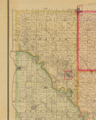 Madison, Iowa 1885 Old Town Map Custom Print - Polk Co.