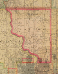 Saylor, Iowa 1885 Old Town Map Custom Print - Polk Co.