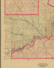 Walnut, Iowa 1885 Old Town Map Custom Print - Polk Co.