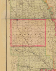 Webster, Iowa 1885 Old Town Map Custom Print - Polk Co.