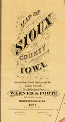 Title of Source Map - Sioux Co., Iowa 1884 - NOT FOR SALE - Sioux Co.