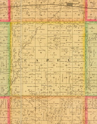 Capel, Iowa 1884 Old Town Map Custom Print - Sioux Co.
