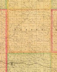 Center, Iowa 1884 Old Town Map Custom Print - Sioux Co.