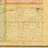 East Orange, Iowa 1884 Old Town Map Custom Print - Sioux Co.