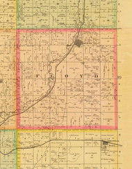 Floyd, Iowa 1884 Old Town Map Custom Print - Sioux Co.