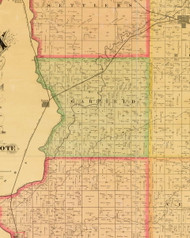 Garfield, Iowa 1884 Old Town Map Custom Print - Sioux Co.