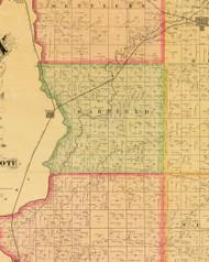 Garfield, Iowa 1884 Old Town Map Custom Print - Sioux Co.