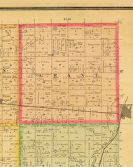 Grant, Iowa 1884 Old Town Map Custom Print - Sioux Co.