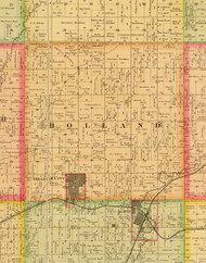 Holland, Iowa 1884 Old Town Map Custom Print - Sioux Co.