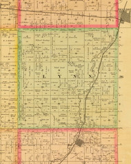 Lynn, Iowa 1884 Old Town Map Custom Print - Sioux Co.