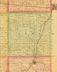 Lynn, Iowa 1884 Old Town Map Custom Print - Sioux Co.