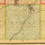 Nassau, Iowa 1884 Old Town Map Custom Print - Sioux Co.