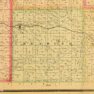 Reading, Iowa 1884 Old Town Map Custom Print - Sioux Co.