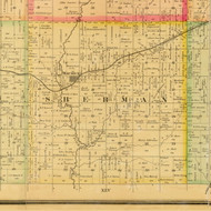 Sherman, Iowa 1884 Old Town Map Custom Print - Sioux Co.