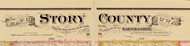 Title of Source Map - Story Co., Iowa 1883 - NOT FOR SALE - Story Co.