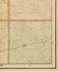 Collins, Iowa 1883 Old Town Map Custom Print - Story Co.