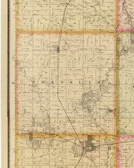 Franklin, Iowa 1883 Old Town Map Custom Print - Story Co.