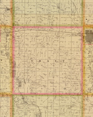 Grant, Iowa 1883 Old Town Map Custom Print - Story Co.