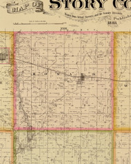 Howard, Iowa 1883 Old Town Map Custom Print - Story Co.