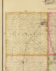 Lafayette, Iowa 1883 Old Town Map Custom Print - Story Co.