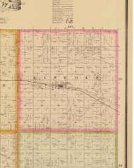 Lincoln, Iowa 1883 Old Town Map Custom Print - Story Co.