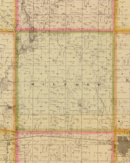 Milford, Iowa 1883 Old Town Map Custom Print - Story Co.