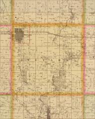 Nevada, Iowa 1883 Old Town Map Custom Print - Story Co.