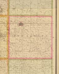 New Albany, Iowa 1883 Old Town Map Custom Print - Story Co.