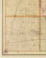 Palestine, Iowa 1883 Old Town Map Custom Print - Story Co.