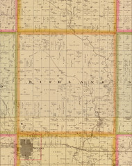 Richland, Iowa 1883 Old Town Map Custom Print - Story Co.